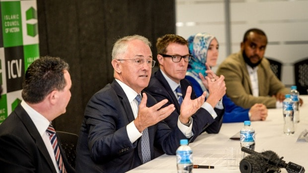 Turnbull attempts to charm Muslims with empty words