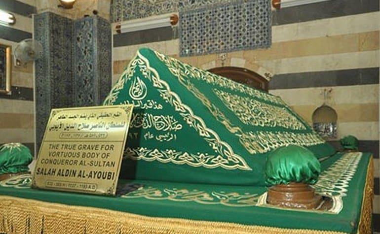 The grave of Salahuddeen in Damascus, Syria.