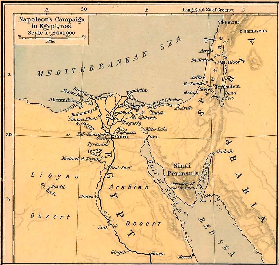 The Napoleonic foray into Egypt and Syria.