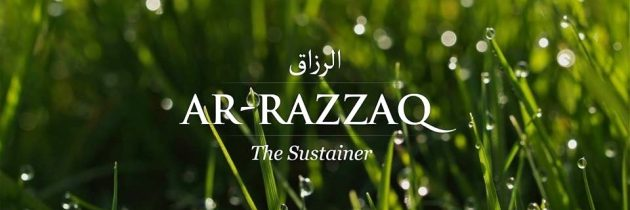 Understanding that Rizq (Provision) is from Allah