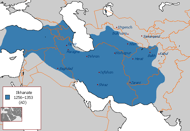 The Ilkhanate at it's greatest extent