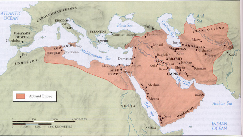 The Abbasid Caliphate lasted from 750 to 1258, then resumed in 1261 under the Mamluk Sultanate of Egypt
