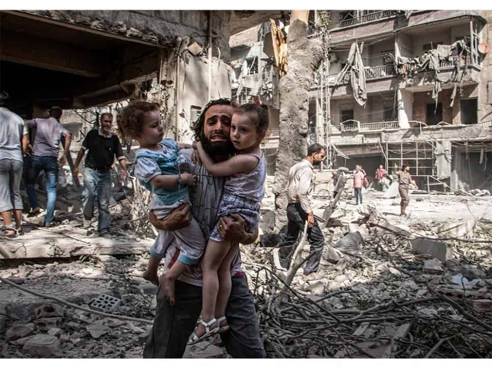 The devastation of Aleppo by Russian bombs in Nov-Dec 2016.