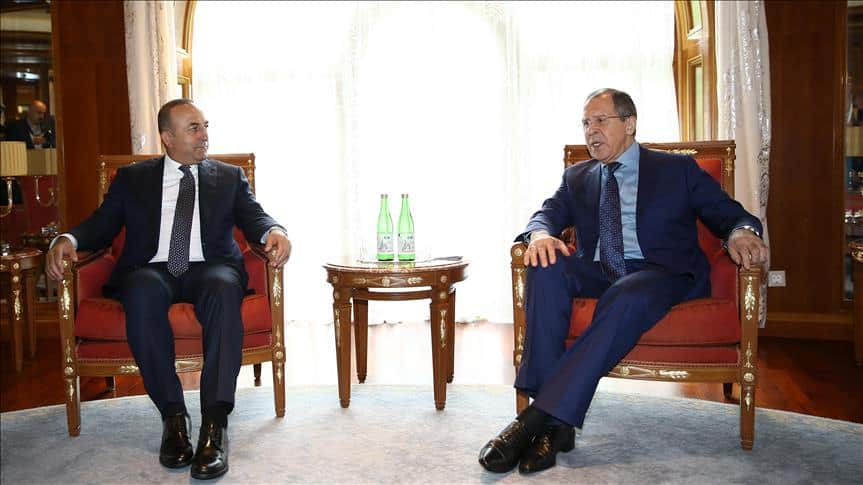 Lavrov and Çavuşoğlu meet in Sochi, July 2016.
