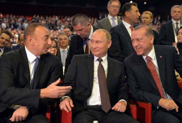 Putin and Erdogan at the World Energy Forum in Istanbul, Oct 2016.