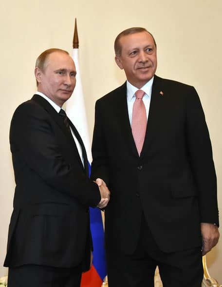 Putin and Erdogan meet in St. Petersburg, August 2016.