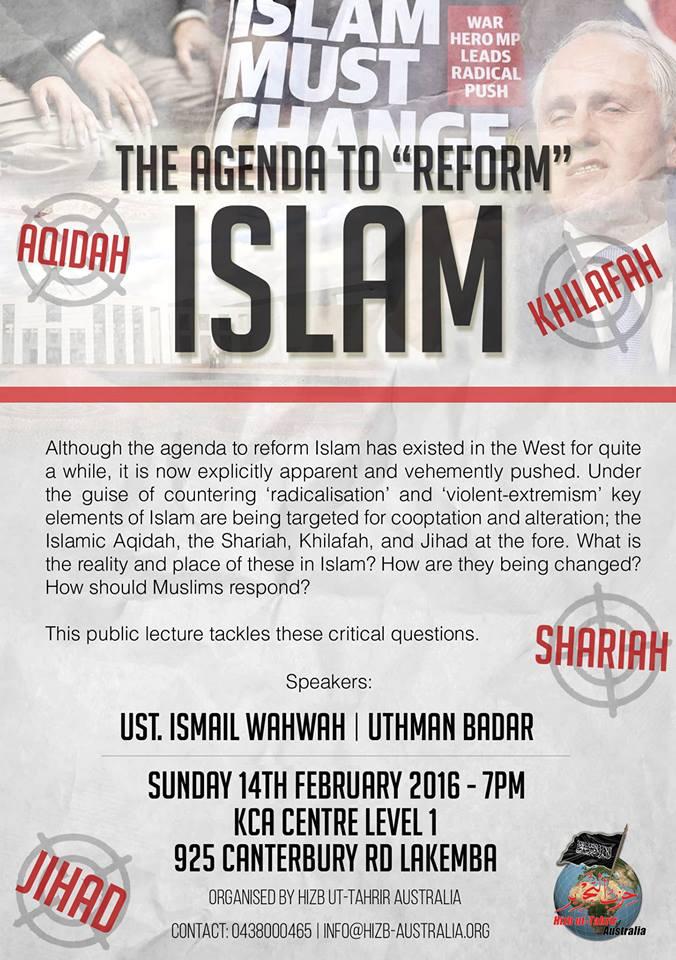 The Agenda to 'Reform' Islam – Public Lecture