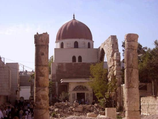 The Mausoleum of Salahuddeen next to the Umayyad Mosque in Damascus, Syria.