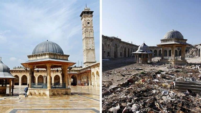 Devastation in Images: Aleppo Before & After the War